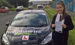 Ellie Thompson passed with Robinette Driving