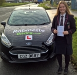 Megan Bell passed with Robinette Driving