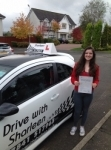 Rebecca Cairney passed with Drive with Sharleen
