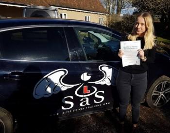 Passed 15/2/2018 1 Minor Fault Instructor Sara Bradley...