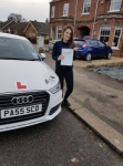 Anna Russell passed with Sas Elite Driver Training