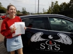 Jasmine Kelly passed with Sas Elite Driver Training