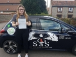Mollie Smith passed with Sas Elite Driver Training