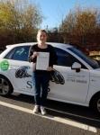 Sophie Barham passed with Sas Elite Driver Training