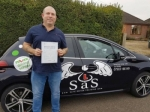 Steve Anderson passed with Sas Elite Driver Training