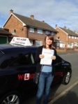 ELLIE passed with Wilkes Driving Tuition