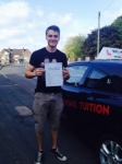 JOE passed with Wilkes Driving Tuition