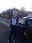 LUCY passed with Wilkes Driving Tuition