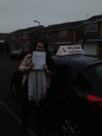 DANNIELLE F passed with Wilkes Driving Tuition