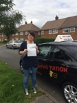 SARAH G passed with Wilkes Driving Tuition