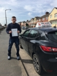 JOE J passed with Wilkes Driving Tuition
