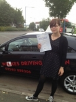 KARINA passed with Wilkes Driving Tuition