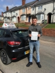 Nathan passed with Wilkes Driving Tuition