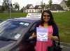 Chandni passed with Sophie's School of Motoring