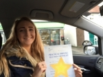 Leah passed with Sophie's School of Motoring