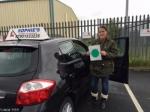 Tara passed with Sophie's School of Motoring
