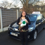 Hannah passed with Sophie's School of Motoring