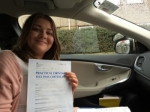 Lucy C passed with Sophie's School of Motoring