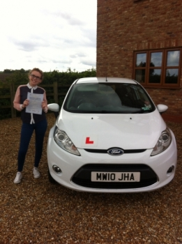 Congratulations to Lucie from March who passed her test on 6th May....