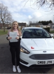 Abi passed with You Drive School Of Motoring