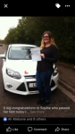 Sophie passed with You Drive School Of Motoring