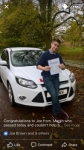 Joe passed with You Drive School Of Motoring