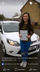 Jasmine passed with You Drive School Of Motoring