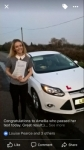 Amellia passed with You Drive School Of Motoring