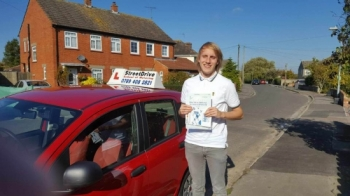 "Congratulations to ""Alex Cave' for passing his driving test this morning at Chippenham DTC, was his '1st Attempt' just ""ONE"" driving fault, very well done.<br />