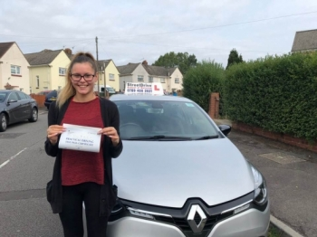 "Beep, beep, move over ""Alicia's"" on the road, delighted for 'Alicia Mellows' who passed her driving test this morning at Poole DTC, ""1st Attempt"", just ""TWO"" driving faults, fantastic news.<br />