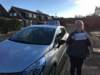 "Beep, Beep, delighted for �Amy Beck' who passed the new ""SatNav� driving test today at Poole DTC, ""1st Attempt�, only ""FOUR� driving faults, fantastic news.<br />
