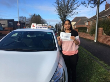 "Delighted for �Anika Lukha' who passed the new ""SatNav� driving test today at Poole DTC, at the ""1st Attempt�, only ""ONE� driving faults, fantastic news.<br />