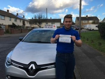 "Delighted for �Buster Amey' who passed his driving test today at Poole DTC, and at the ""1st Attempt� just ""FIVE� driving faults, fantastic news.<br />