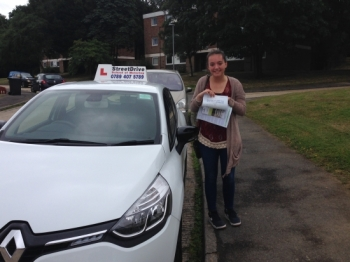 Passed on her 18th Birthday, congratulations to Cjay Adams who passed her driving test today at Poole DTC, just TWO driving faults, very well done, we are all delighted for you.  Congratulations from your instructor