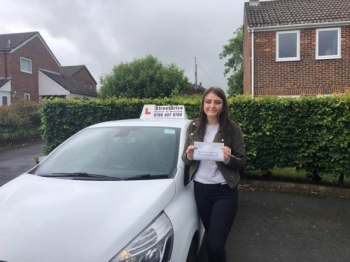 "Beep,beep, congratulations to ""Chloe Ball"" who passed her driving test today, at Poole DTC, ""1st attempt"" and just the ""TWO"" driving faults, very well done.