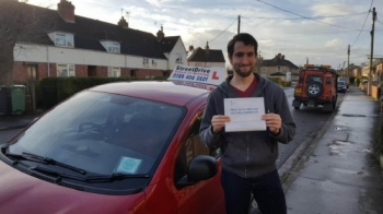 "Well done to ""Dan Williams"" who passed his test today at Chippenham DTC, 1st time pass with just the ""TWO"" minor driving faults, a confident and safe drive.<br />