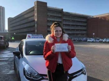 I had 'Louise' as an instructor and she was amazing, I passed my driving test 1st time.<br /> <br /> 'Louise' made understanding any faults really easy so that I could make quick progress and really helped to build my confidence, especially towards the end so I'd highly recommend StreetDrive - Passed Tuesday 21st January 2020.