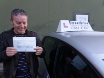 "Congratulations to 'Derek Barter' who passed his driving test at Westbury DTC, ""2nd Attempt"", very well done.<br />