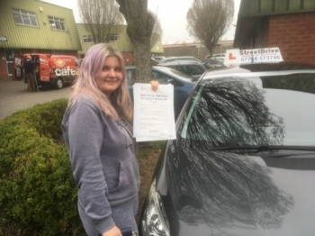 "Congratulations to �Ellie Ingram' who passed her driving test today at Chippenham DTC, it was her ""1st Attempt� so fantastic news.<br />