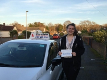 "Delighted for �Ellie Taylor' who passed the new ""SatNav� driving test today at Poole DTC, it was her ""1st Attempt�, fantastic news.<br />