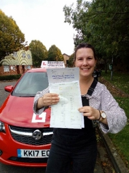 """Passed with """"ZERO"""" Driving Faults <br /> <br /> I learnt to drive with Andy' and passed with zero faults. I was a very nervous driver and Andy has been excellent in keeping me calm and positive. <br /> <br /> 'Andy' clearly explains everything and I would recommend him to absolutely everyone. Thanks Andy! Emily Davies - Passed 22nd October 2019."""