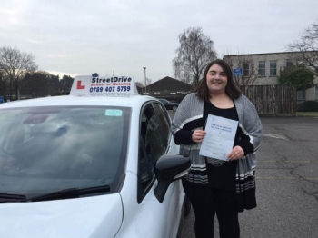 Louise of StreetDrive was a fantastic driving instructor, I am so grateful to her, she was able to guide my driving experience and allow me to become a confident and safe driver. 