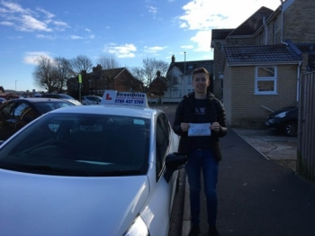 "Delighted for ""Ian Crook' who passed the new ""SatNav"" driving test today at Poole DTC, only ""FOUR"" driving faults, fantastic news.<br />