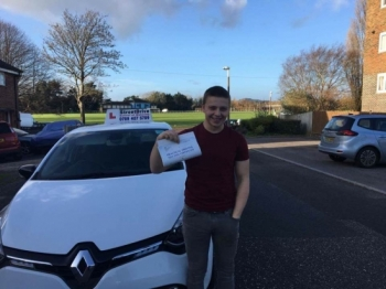"Congratulations to 'Jake Cutler' who passed his driving test today at Poole DTC, and at the ""1st Attempt� just ""THREE� driving faults, fantastic news.<br />