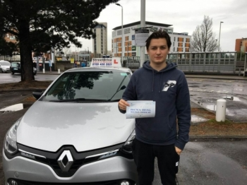 "Delighted for �James Dillon' who passed the new ""SatNav� driving test today at Poole DTC, and at the ""1st Attempt�, fantastic news.<br />
