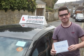 "Congratulations to �Jamie McLeave' who passed the new ""SatNav� driving test today at Chippenham DTC, fantastic news.<br />