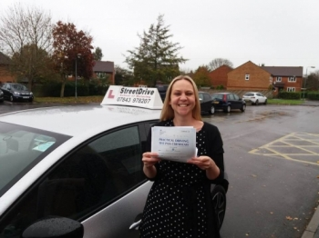 "Congratulations to 'Jenny Sweetman' who passed her driving test today at Trowbridge DTC, just ""FOUR� Driving faults, fantastic news.<br />