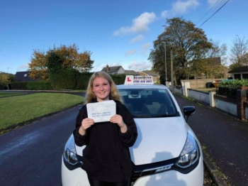 Fantastic! Amazing instructor, thank you 'Louise', will highly recommend to anyone. <br /> <br /> Passed on Monday 4th November 2019.