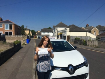 "Delighted for 'Kerry Leaver"" who passed her driving test today at Poole DTC, 1st Attempt and just ""7"" driving faults"", fantastic news.<br />