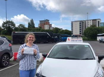 "Beep, beep, congratulations ""Lauren Somers"" who passed her driving test ""1st attempt"" at Poole DTC, just the ""THREE"" driving faults, very well done.<br />